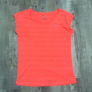 Thin neon Nike dri-fit top